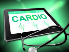 Cardio Tablet Means Online Www And Wellness - stock illustration