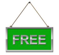 Free Sign Shows Without Charge And Complimentary - stock illustration
