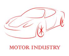 Motor Industry Shows Passenger Car And Auto Stock Illustration
