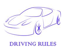 Driving Rules Shows Passenger Car And Automotive Stock Illustration
