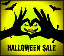 Halloween Sale Represents Trick Or Treat And Celebration Stock Illustration