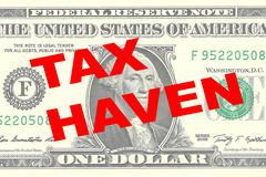 Tax Haven concept Stock Illustration