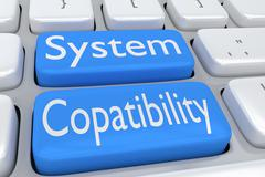 System Compatibility concept Stock Illustration