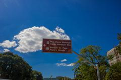 CURITIBA ,BRAZIL - MAY 12, 2016: information signpost on the street with the Stock Photos