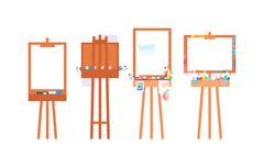 Easel art board vector Stock Illustration