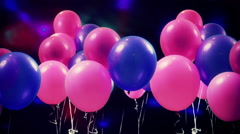 Balloons party concept background Stock Footage