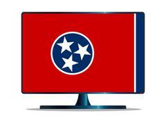 Tennessee Flag TV Stock Illustration