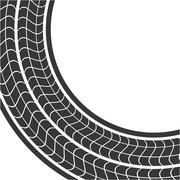 Print wheel tire shape black icon. Vector graphic Stock Illustration