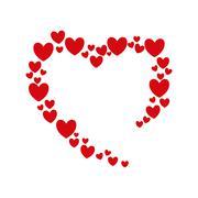 Heart love romatic passion icon. Vector graphic Stock Illustration