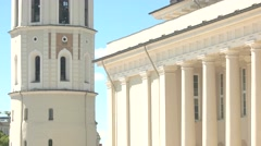 Tower with cross on dome. Stock Footage