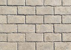 Background in form of gray masonry of lime sand brick Stock Photos