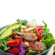 Chicken Avocado salad - stock photo