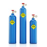 Oxygen tanks isolated on white background. 3D illustration Stock Illustration
