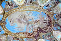 Ceiling painting in Vranov nad Dyji Stock Photos