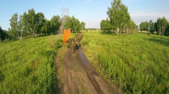 Military exercises in the woods Stock Footage