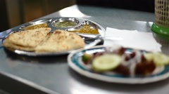 Roti ready to eat on table - stock footage