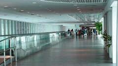 People walking through KLIA2 airport terminal Stock Footage
