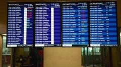 Checking KLIA2 airport departure screens Stock Footage