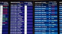 KLIA2 Airport baggage and departure screens Stock Footage