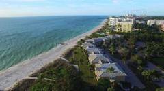 Panoramic aerial view of Naples, Florida - stock footage