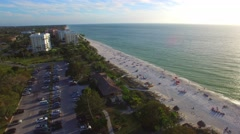 Panoramic aerial view of Naples, Florida Stock Footage
