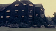 Canada 1938: Montebello Chateaux Stock Footage