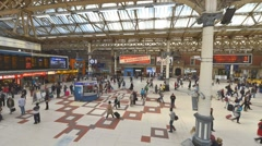 LONDON – Time Lapse of Liverpool Street Station interior. The Stock Footage