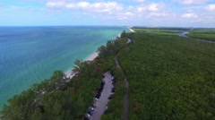 Delnor Wiggins State Park, aerial view Stock Footage