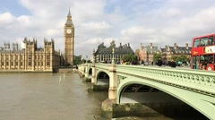 LONDON –  Westminster Bridge traffic. Traffic is a major issue in - stock footage