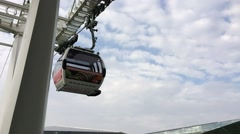 LONDON – Thames cable car by Emirates Air Line in London. The Stock Footage