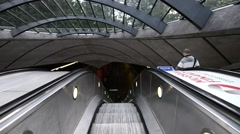 LONDON – People enter subway station. Underground is the most - stock footage