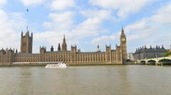 Time Lapse of Westminster Palace on a beautiful day - stock footage