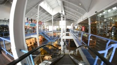 NEW YORK CITY -Pier 17 mall interior. Pier 17 area will go through Stock Footage