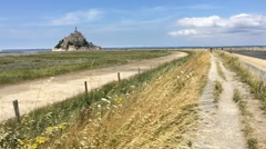 Mont Saint Michel, Normandy Stock Footage