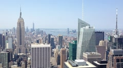 NEW YORK CITY -  Aerial view of New York. The city attracts 50 Stock Footage
