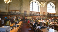 NEW YORK, USA -  New York Public Library is the largest public library Stock Footage