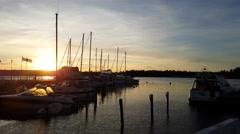 TAMMISAARI, RAASEPORI, UUSIMAA, FINLAND, JULY 27 Boats and people at the city Stock Footage