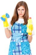 Housekeeper isolated portrait Stock Photos