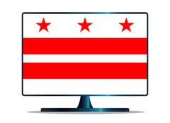 Washington DC Flag TV - stock illustration