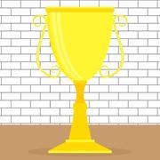 Golden cup or goblet - stock illustration