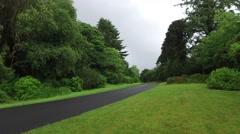 asphalt road at connemara in ireland  - stock footage