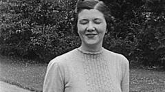 USA 1938: lady portrait Stock Footage