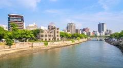 Hiroshima Atomic Dome, Japan Stock Footage