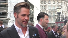 Chris Pine at the Star Trek UK Premiere Stock Footage