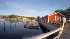 Time-lapse of boats at the city of tammisaari, in Uusimaa, Finland Stock Footage