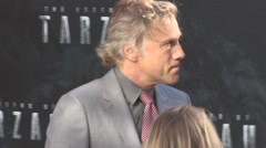 Christoph Waltz at The Legend of Tarzan Uk Premiere Stock Footage
