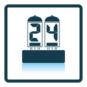 Electric numeral lamp icon Stock Illustration