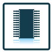 Chip icon Stock Illustration
