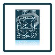 Circuit icon Stock Illustration