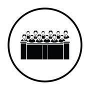 Jury icon Stock Illustration